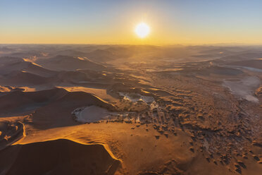 Africa, Namibia, Namib desert, Namib-Naukluft National Park, Aerial view of desert dunes, Nara Vlei, Sossusvlei and 'Big Mama' - FOF10118