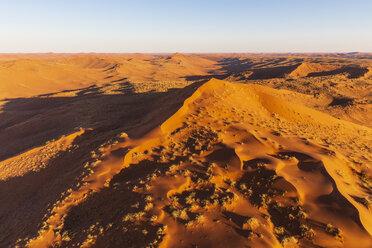 Africa, Namibia, Namib desert, Namib-Naukluft National Park, Aerial view of desert dunes - FOF10124