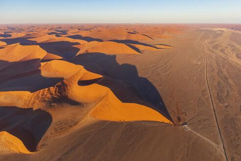 Africa, Namibia, Namib desert, Namib-Naukluft National Park, Aerial view of desert dune 45 - FOF10130