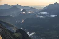 Austria, Salzburg State, Loferer Steinberge, mountainscape at twilight - HAMF00357