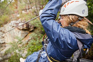 Woman zip lining - CAIF21443