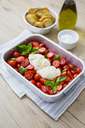 Italian food, caprese, mozzarella and tomatoes and basil - GIOF04232