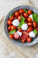 Italian food, caprese, mozzarella and tomatoes and basil - GIOF04241
