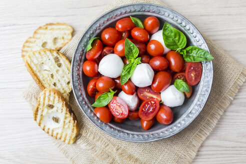 Italian food, caprese, mozzarella and tomatoes and basil - GIOF04244