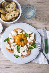 Italian food, caprese, mozzarella and tomatoes and basil - GIOF04253