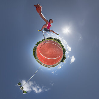 Hurdler, little planet view - STSF01722