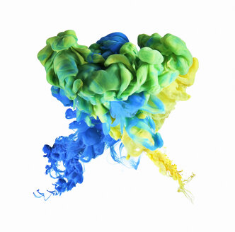 Multicolor ink formation on white background - CAIF21686