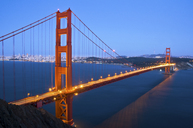The Golden Gate Bridge at dusk with San Francisco in the background, California. - AURF01568