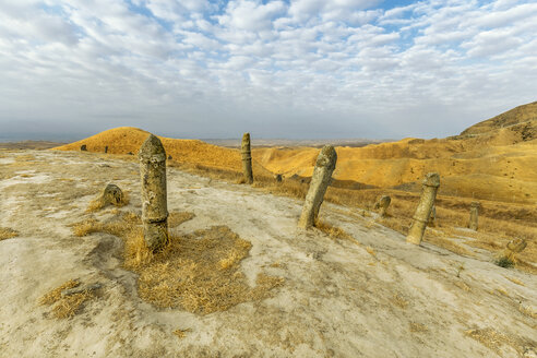 Iran, Golestan Province, Gonbad-e Kavous, Khalid Nabi cemetery - FPF00196