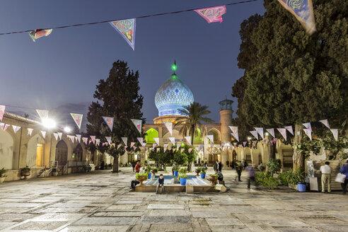 Iran, Shiraz Province, Shiraz, Ali Ibn Hamzeh Holly Shrine in the evening - FP00199