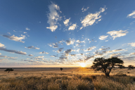 Africa, Botswana, Kgalagadi Transfrontier Park, Mabuasehube Game Reserve, Mabuasehube Pan at sunrise - FOF10209