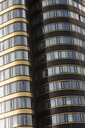 Poland, Warsaw, part of facade of Zebra Tower - FC01488