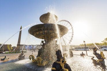 France, Paris, Place de la Concorde, Fountain and Luxor Obelisk - WDF04807