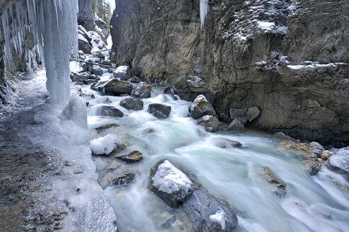 Germany, Garmisch-Partenkirchen, View of icicles in partnachklamm gorge - ZCF00645