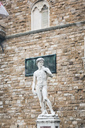 Italy, Florence, copy of Michelangelo's David statue at Piazza della Signoria - MGIF00217