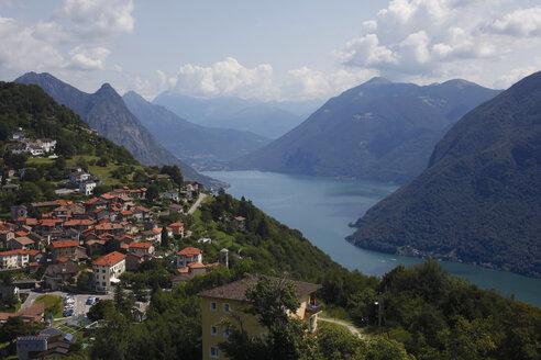 Switzerland, Lugano, view to Bre village - JTF01050