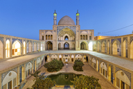 Iran, Isfahan Province, Kashan, Agha Bozorg Mosque at blue hour - FP00207