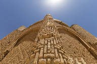 Iran, Quazvin Province, The Kharaghan Towers, worm's eye view - FPF00216
