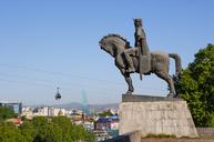 Georgia, Tbilisi, Statue of King Wachtang I., Gorgassali - WWF04269