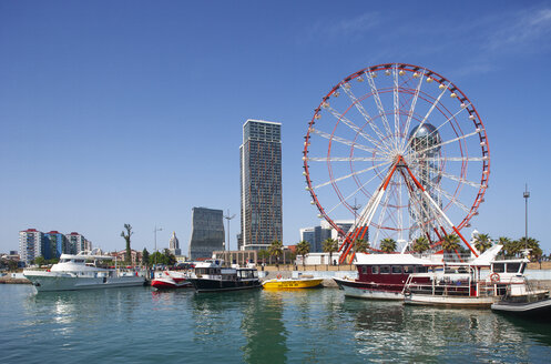 Georgia, Adjara, Batumi, Ferris wheel near the marina and Miracle Park - WW04359