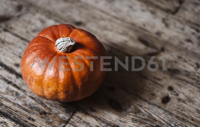 Hokkaido pumpkin on wood - RAMAF00030