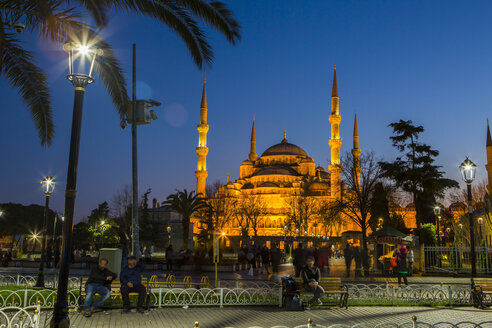 Turkey, Istanbul, Hagia Sofia Mosque at blue hour - JUNF01151