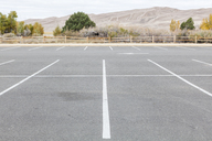 An empty parking lot in Great Sand Dunes National Park, Colorado during the government shutdown. - AURF03002