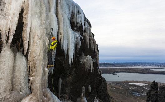 Climing in Buahamrar, Mt. Esja, Reykjavik, Iceland. - AURF03083