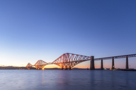 UK, Scotland, Edinburgh, Forth Bridge at sunset - SMAF01138