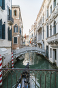 Italy, Venice, Canal with bridge and houses - JUNF01202