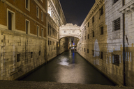 Italy, Venice, Bridge of Sighs at night - JUNF01205
