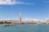 Italy, Venice, view from the lagoon towards St Mark's Square with Campanile - JUNF01208