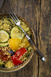 Bowl of oven vegetables with couscous - LVF07402