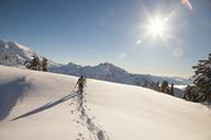 A snowshoer explores Artist Point near Mount Baker. - AURF03740
