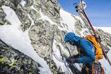 Mountain climber, Vysoka, Tatra Mountains, Slovakia - AURF03874