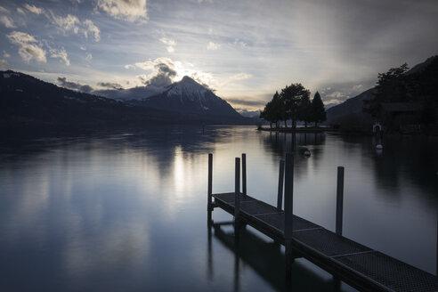 Jetty on lakeshore, Interlaken, Bern Canton, Switzerland - AURF03954