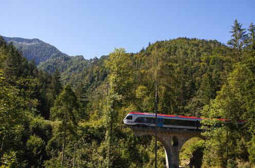 Germany, Upper Bavaria, Berchtesgadener Land, Bayerisch Gmain, Berchtesgadener Land Bahn - WW04420