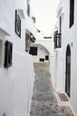 Spain, Menorca, Binibequer, view at alley - IGGF00577