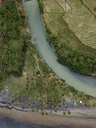 Indonesia, Bali, Aerial view of river - KNTF01237