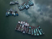 Indonesia, Bali, Aerial view of old ships - KNTF01255