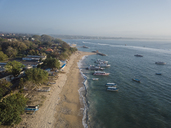 Indonesia, Bali, Aerial view of Sanur beach - KNTF01267