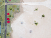 Indonesia, Bali, Aerial view of Nusa Dua beach, from above - KNTF01293
