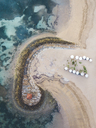 Indonesia, Bali, Aerial view of Nusa Dua beach - KNTF01296