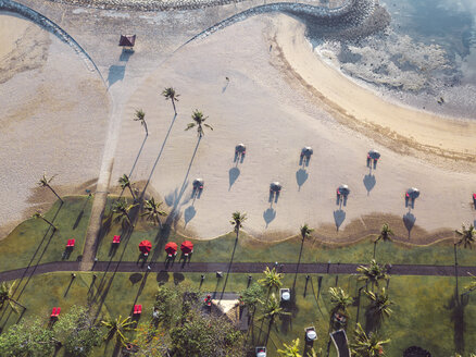 Indonesia, Bali, Aerial view of Nusa Dua beach in the morning - KNTF01305