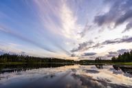 Finland, Kjaani, Kajaani river at sunset - KKAF01720
