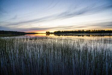 Finland, Kjaani, Kajaani river at sunset - KKAF01726