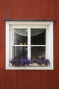 Finland, Close-up of a typically finish wood house - KKAF01741