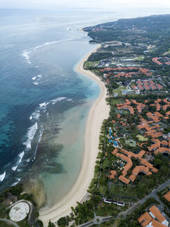 Indonesia, Bali, Aerial view of Nusa Dua beach - KNTF01341