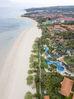 Indonesia, Bali, Aerial view of Nusa Dua beach - KNTF01353