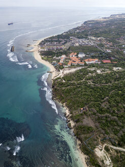 Indonesia, Bali, Aerial view of Nusa Dua beach - KNTF01362